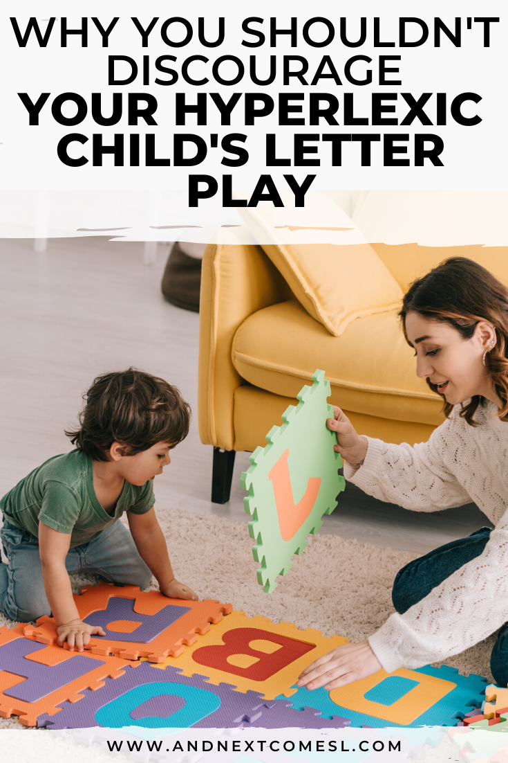 A plea for parents (and therapists) of kids with hyperlexia to not discourage the letter play