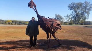 BIG Bike Sculpture in Ballidu