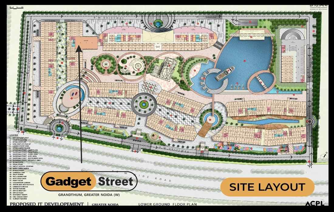 Bhutani-Grandthum-Gadget-Street-Site-Plan