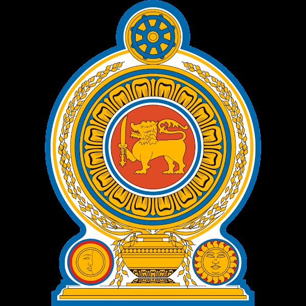 Logo Gambar Lambang Simbol Negara Sri Lanka PNG JPG ukuran 600 px