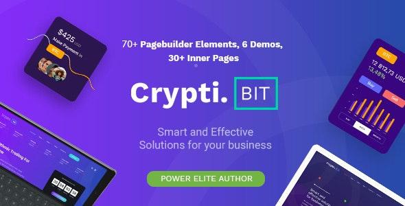 CryptiBIT v1.2 - Technology, Cryptocurrency, ICO/IEO Landing Page WordPress theme