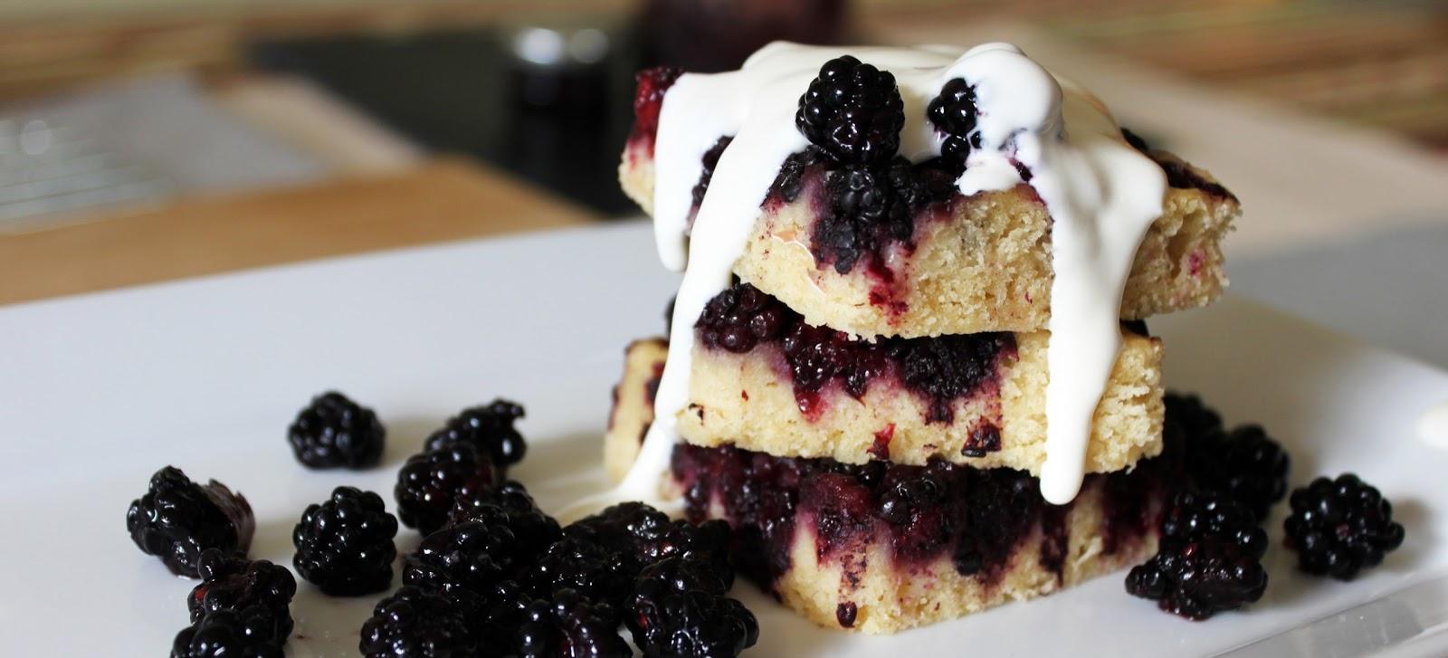 Blackberry Cake: HealthierCake Recipe