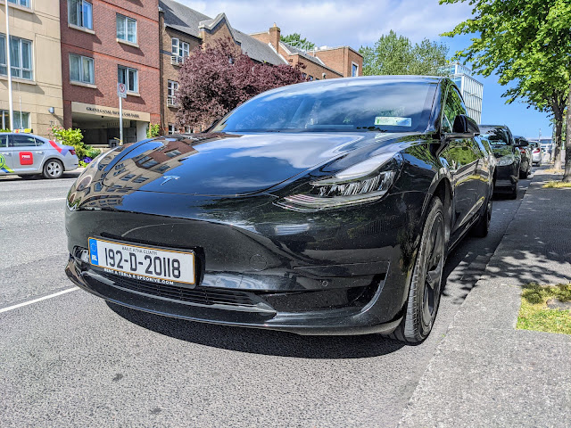 UFO Drive Tesla Car Hire for a Road Trip to Carlingford Lough from Dublin