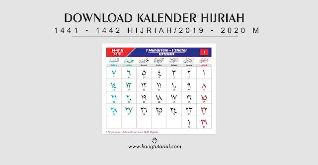 Download Kalender Islam 1441 Hijriyah Tahun 2019/2020 Format PDF dan CDR