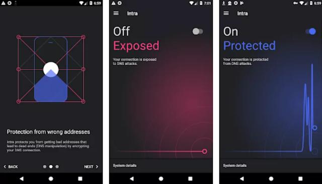 تطبيق Intra يقوم بتشفير استعلامات DNS لتجاوز الرقابة على الإنترنت