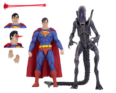 San Diego Comic-Con 2019 Exclusive Superman vs Aliens Action Figure 2 Pack by NECA x DC Comics x Dark Horse