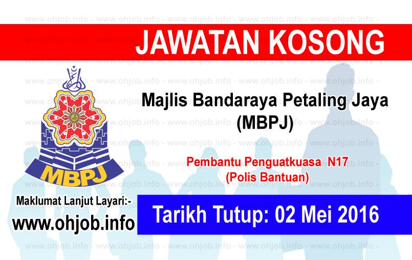 Jawatan Kerja Kosong Majlis Bandaraya Petaling Jaya (MBPJ) logo www.ohjob.info mei 2016