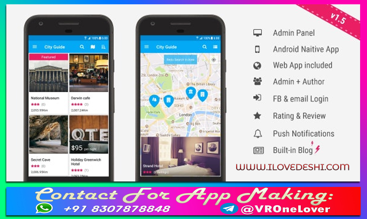 [ILoveDeshi] - Latest City Guide Android App Code Free