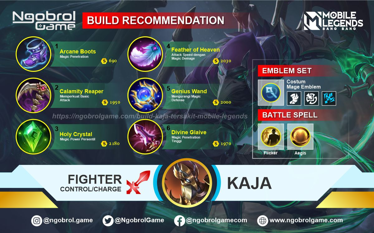 Build Kaja Tersakit 2021 Mobile Legends