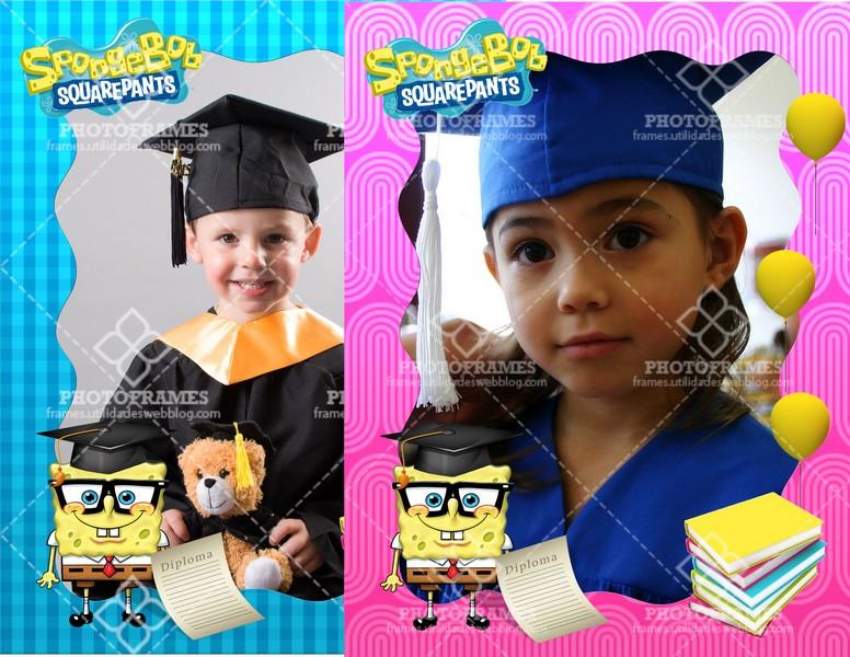 marco para fotos de graduación de bob esponja