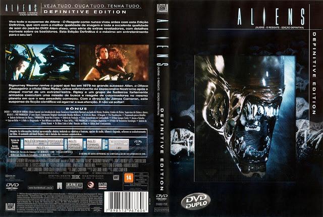 Capa DVD Aliens O Resgate (Edição Definitiva)