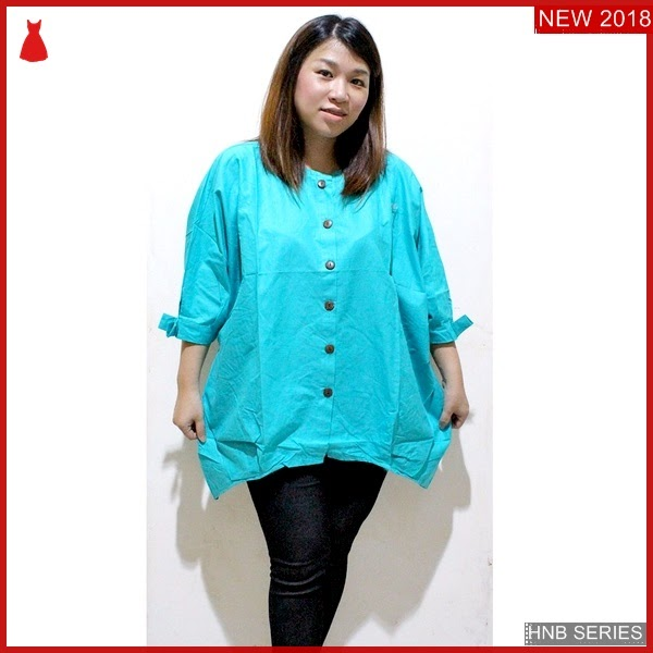 HNB217 Model Blouse Bunga Bordir Ukuran Besar Jumbo BMG Shop