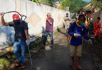 Cegah Covid19, FPKT Kelurahan Jatiwangi Danai Aksi Penyemprotan Disinfektan