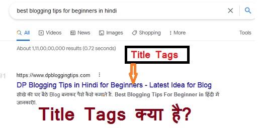 title tag kya hai in hindi