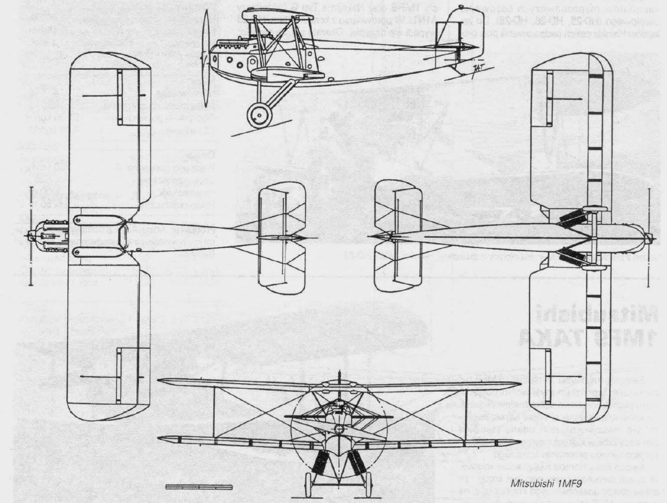 Japanese Aircraft Of Wwii Mitsubishi 1mf9 Taka Type