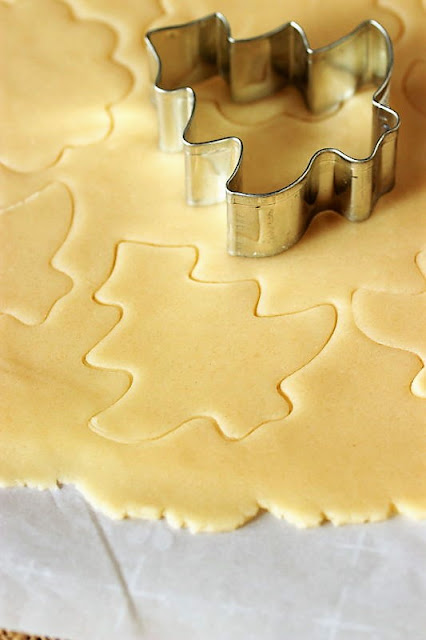 Cutting Out Basic Rolled Butter Cookies Image