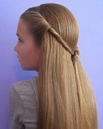 Peinados muy faciles para ni as con cabello largo - Peinados nina pelo largo ...