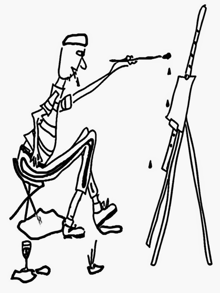 coloring pages of a painter