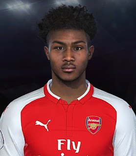 PES 2018 Faces Ainsley Maitland-Niles by Prince Hamiz