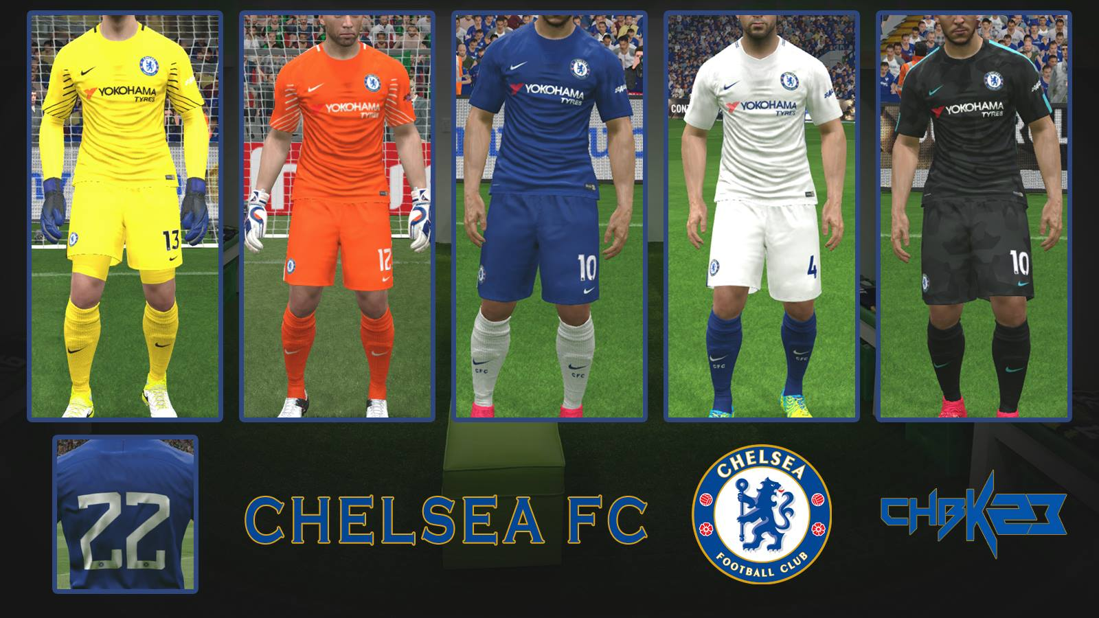 Kitset 2017/18 Chelsea Football Club