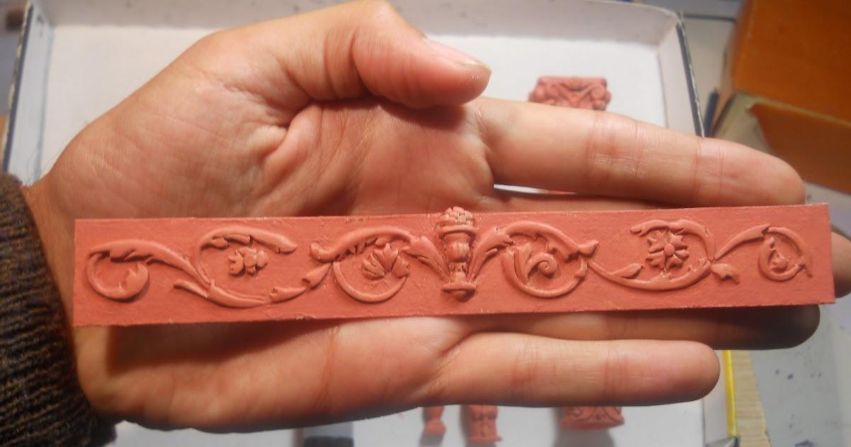 esculturas en cermica  Miniaturas de columnas y ornamentos de la casa rosada