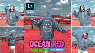 Preset Lightroom Terbaik Ocean Red Terbaru XMP & DNG