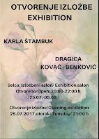 Karla Štambuk i Dragica Kovač-Benković, izložba, Selca slike otok Brač Online