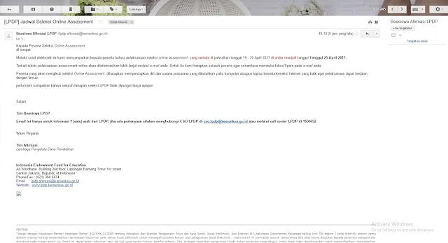 Get Success! Assesment Online LPDP