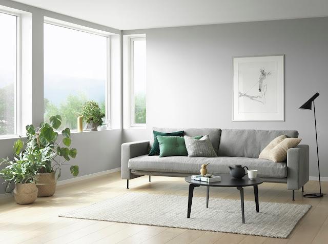 Lånt ut stua til møbelprodusent / Our living room as stage for ...