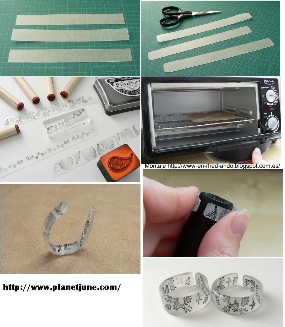 sortijas, anillos, plástico, manualidades, bisutería, reciclar