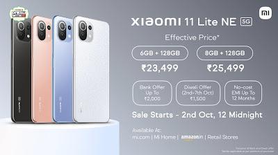 Xiaomi 11 Lite 5G NE Launch, Price & Specifications In India