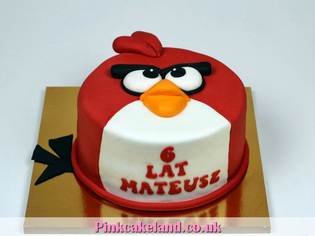 Kids Birthday Cakes - Angry Birds Cake