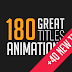 180 Great Title Animations After Effects Project Files