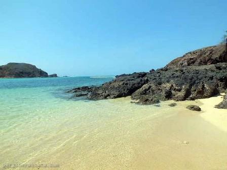 Destinasi wisata Pantai tanjung aan Di lombok