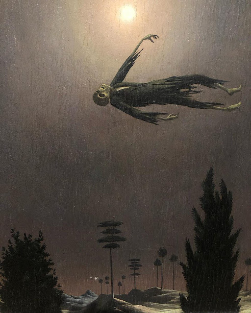 Apparition above the trees - Franz Sedlacek