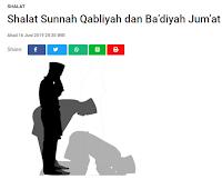 Shalat Sunnah Qabliyah dan Badiyah Jumat - Kajian Sunnah Tarakan