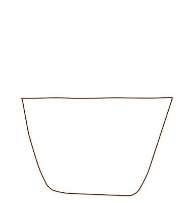 アイコン 「買い物」 (作: 塚原 美樹) ~ バッグの下の部分を描く