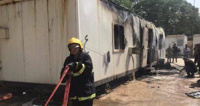 الدفاع المدني تسيطر على حريق نشب في كرفان سكني قرب مستشفى الشهيد المهندس ببغداد