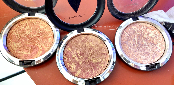 mac star trek makeup collection trip the light fantastic powders photos swatches