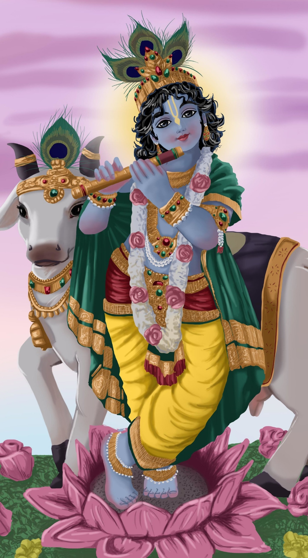Sri krisna art mobile wallpaper