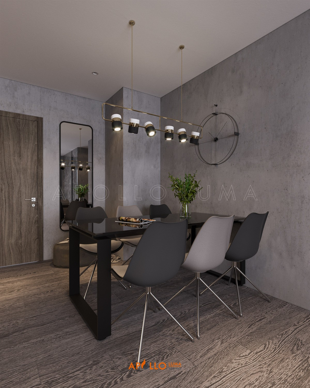 Thiết kế nội thất căn hộ 3 phòng ngủ (106m2) Vinhomes Smart City Tây Mỗ
