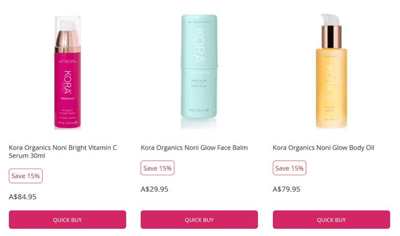 Kora Organics格安販売15%割引のページ