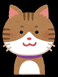 いろいろな表情の猫のイラスト「笑顔」