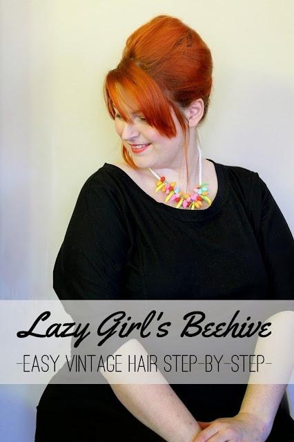 1960s easy beehive hair tutorial