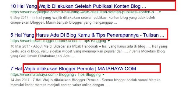 Wajib Yang Tidak Wajib Karangan Para Blogger