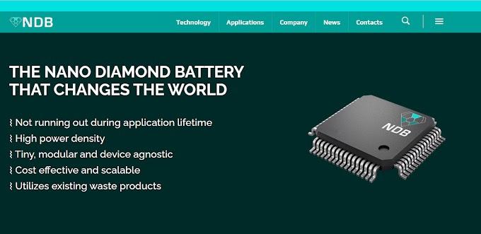 Nano Diamond Battery แบตเตอรี่ชาร์จได้ด้วยตัวของมันเอง