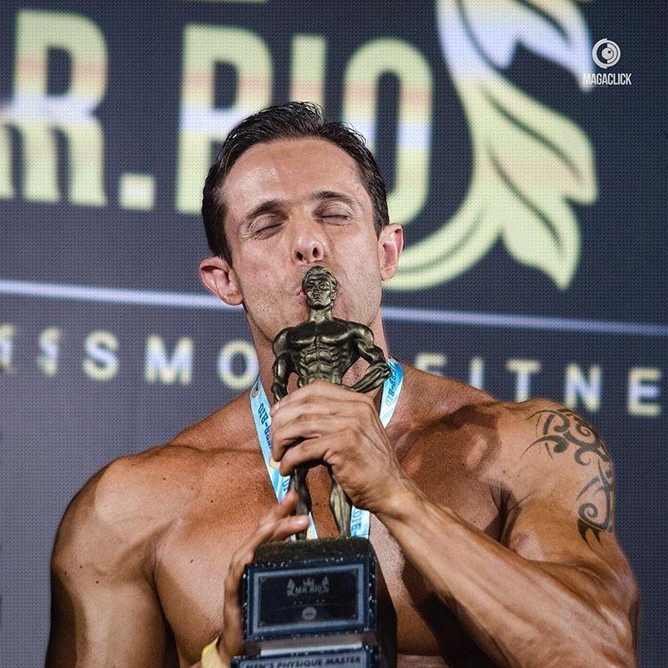 Rodrigo Varanda foi campeão estadual no Mr. Rio 2017. Foto: Marcelo Magalhães