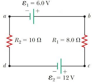 hukum kirchoff 2, soal hukum kirchoff 2, loop rule, hukum kirchhoff 2, soal hukum kirchhoff 2, loop rangkaian