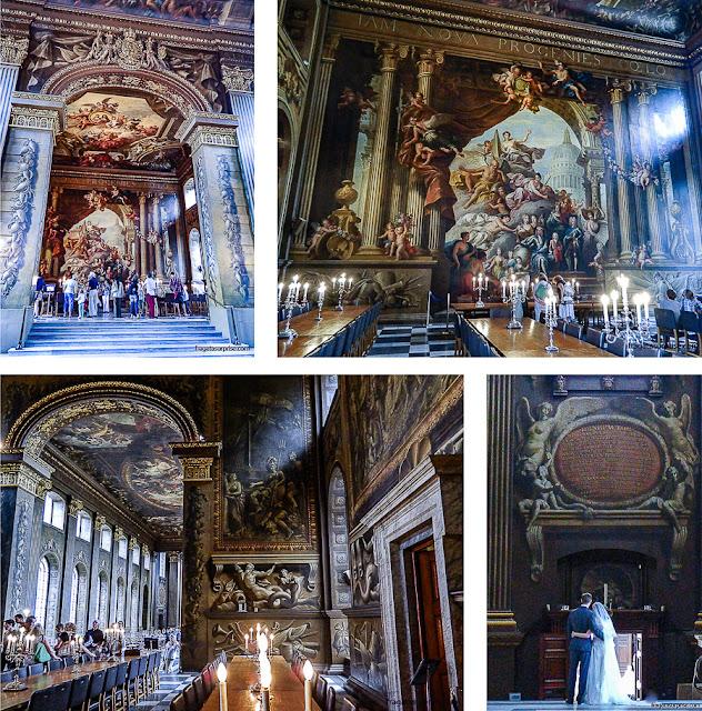 Painted Hall, salão nobre do Royal Naval College, em Greenwich, Londres