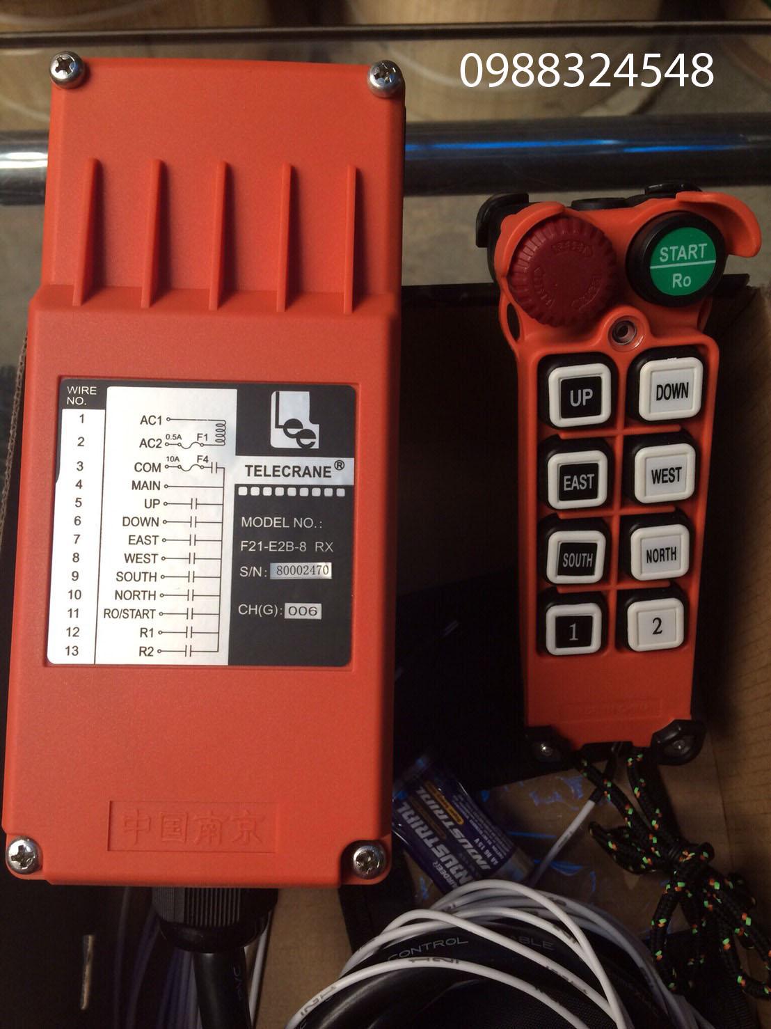 Bộ điều khiển từ xa Telecrane F21-E2B-8
